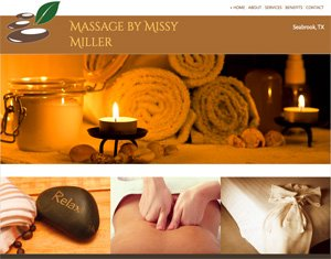 Massage by Missy Miller home page screenshot