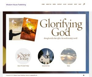 Wisdom House Publishing home page screenshot