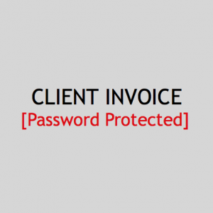 Client Invoice - Password Protected