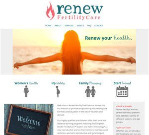 Renew FertilityCare home page screenshot