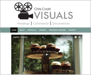 Chris Coats Visuals home page screenshot