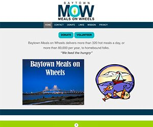 Baytown Meals on Wheels home page screenshot